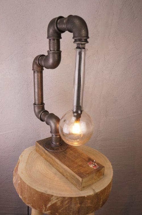 Steel lab lamp