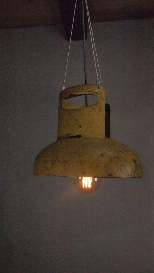 Yellow gas lamp